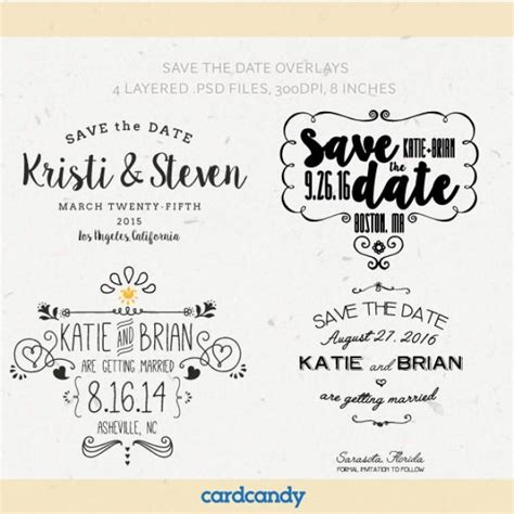 digital save the date overlays wedding photo card