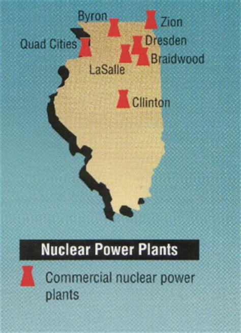 map of illinois power plants illinois nuclear threats