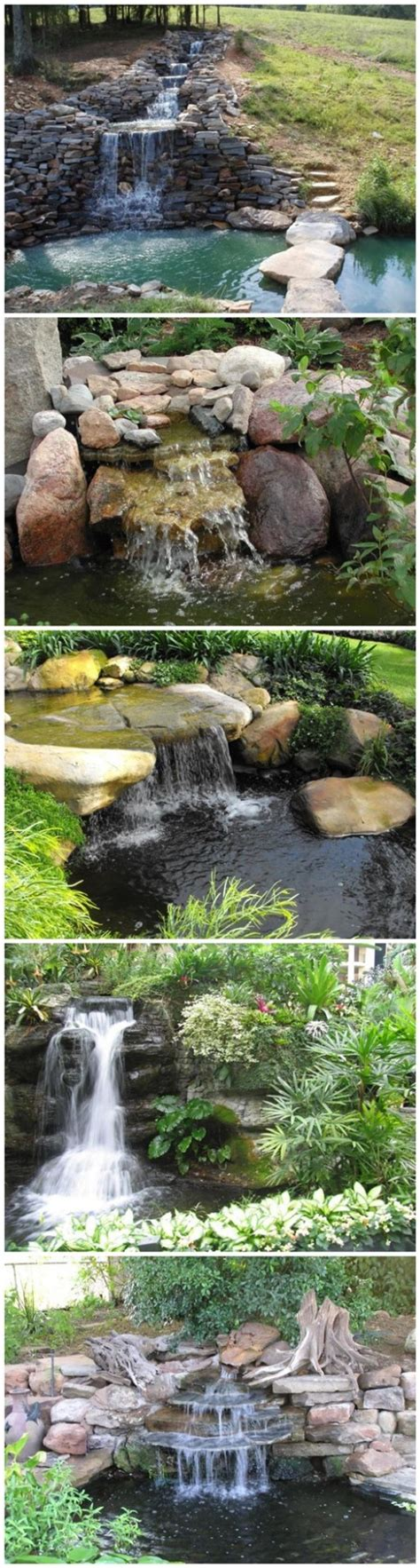 How To Build A Backyard Pond And Waterfall by How To Build A Garden Waterfall Pond Diy Tag
