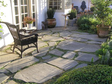 patio slate stepping stones and garden walk with trellis traditional landscape