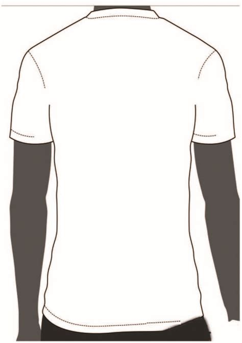 Tshirt Outline Back by Blank T Shirt Front And Back Template Clipart Best