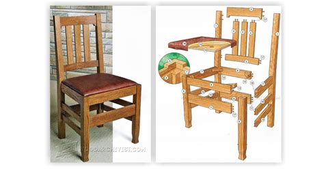 Dining Room Chair Plans Free Dining Room Chair Plans Woodarchivist