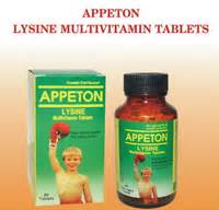 Acid Folic Appeton appeton lysine multivitamin tablets