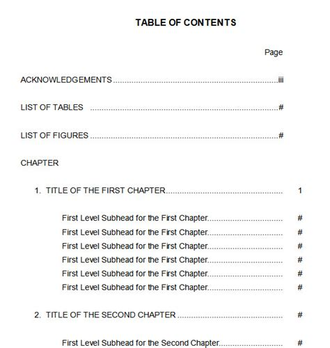 Word Report Template With Table Of Contents 10 Best Table Of Contents Templates For Microsoft Word