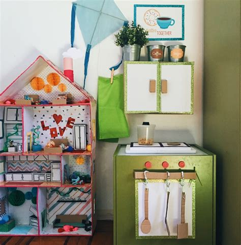cucine da bambini come costruire una cucina di cartone giocattolo per