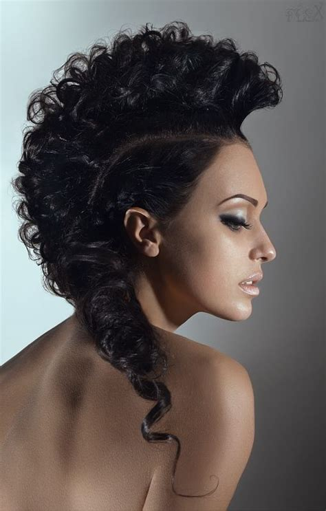 1000 images about curly hair mohawk on pinterest updo