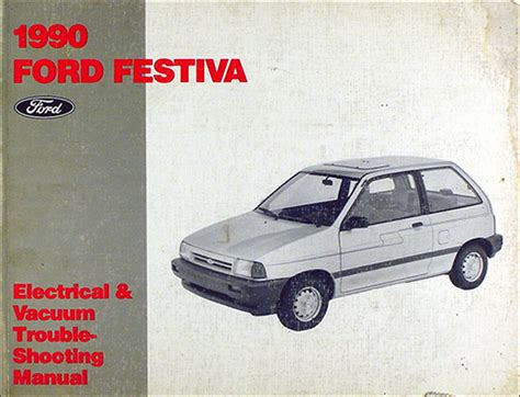 auto repair manual free download 1988 ford festiva engine control 1990 ford lincoln mercury fwd car service specifications book original