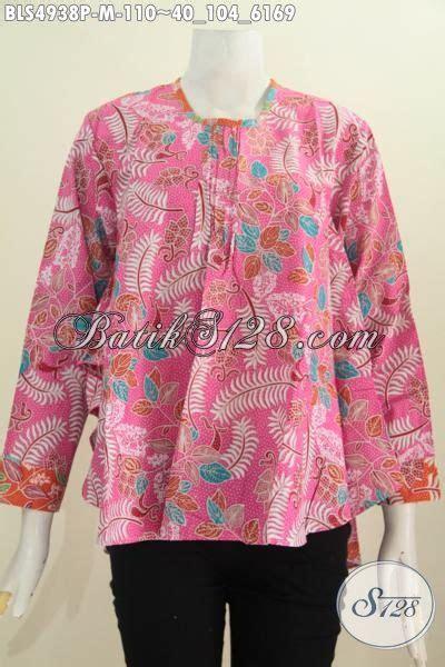 55 Baju Untuk Wanita Warna Merah batik baju blus modern warna merah jambu pakaian batik trendy wanita ukuran m bahan adem proses