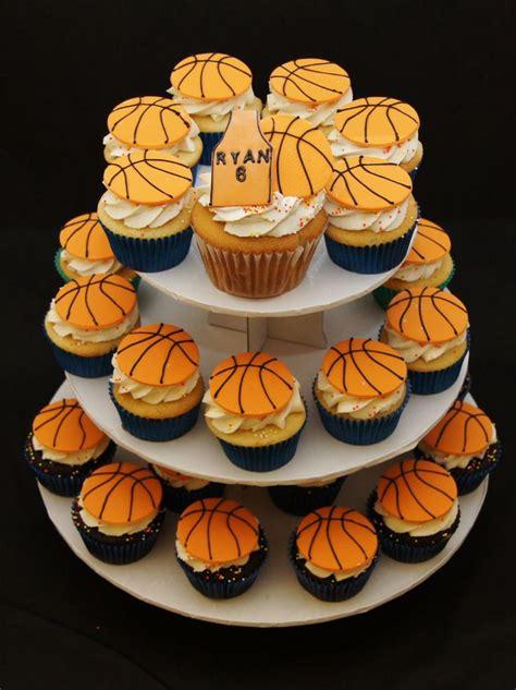 Basketball Cupcakes  Ee  Birthday Ee   Would Bball