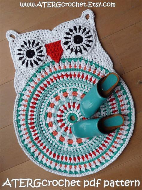 crochet owl rug pattern crochet pattern owl rug by atergcrochet xl crochet crafts knitting crochet