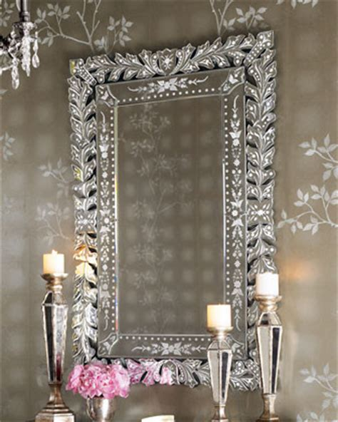 Tahari Home Decorative Pillows by Quot Venetian Quot Mirror Traditional Wall Mirrors By Horchow