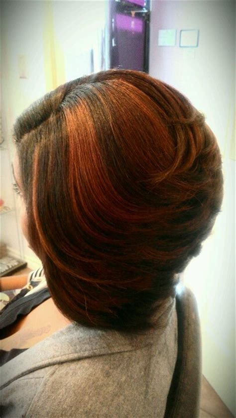 swinging bob red swing bob salon adeaux weave pinterest swing bob