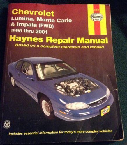 chevy impala chevrolet monte carlo repair shop manual 2006 2011 find haynes publications 24048 car auto repair manual impala lumina monte carlo motorcycle in