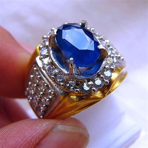 Cincin Batu Blue cincin batu permata blue sapphire cincinpermata