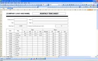 excel monthly timesheet template time sheets excel templates