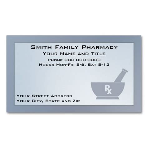 Pharmacy Business Card Template by 17 Best Images About Pharmacist Business Cards On