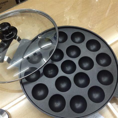 Teflon Cetakan Kue Cubit jual cetakan kue cubit takoyaki snackmaker 19 cekung