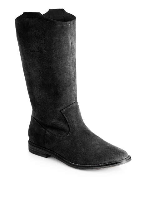 joie ogden slouchy suede boots in black lyst