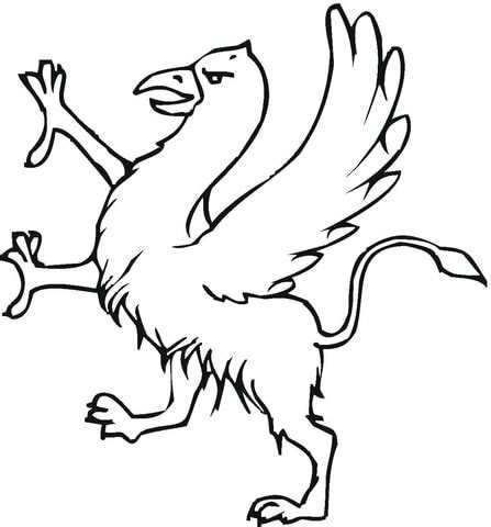 baby griffin coloring page griffin coloring page supercoloring com