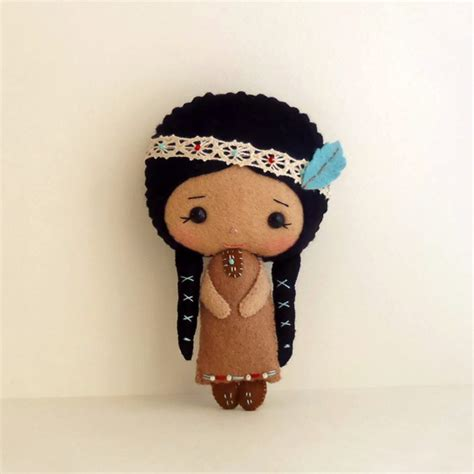 pattern felt doll native american girl pdf pattern sewing patterns girls