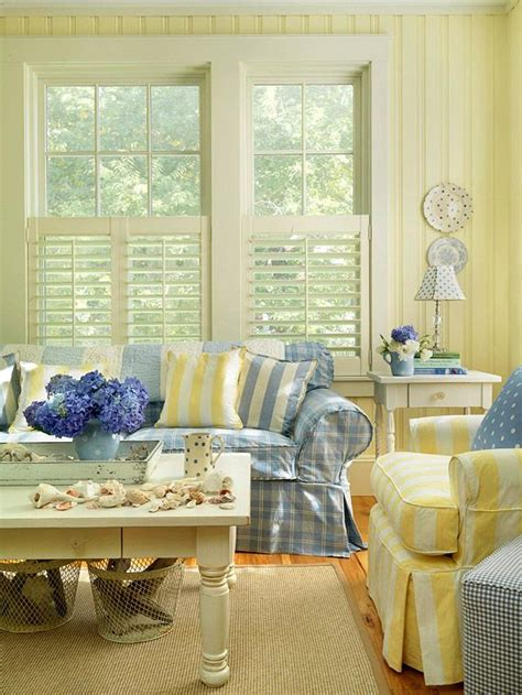 Green And Yellow Curtains Decorating Decorating With Yellow Walls Accessories And Accents Yellow Cottages And Blue