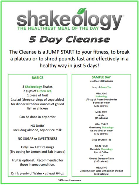 5 Day Clean Detox Plan by 7 Day Cleanse Results 1 Detox