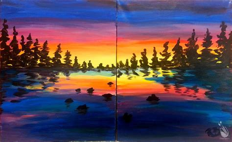 paint with a twist schedule date lake sunset set saturday january 21