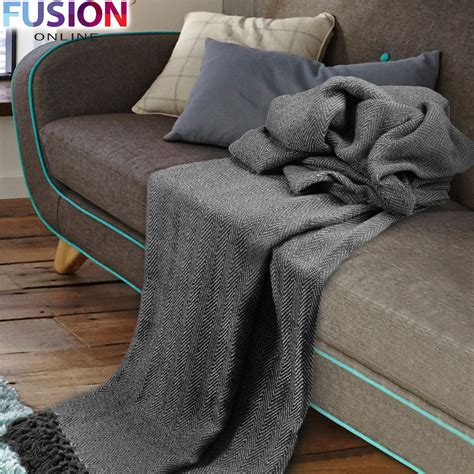 cotton throws for sofas large 100 cotton throw woven sofa bed herringbone