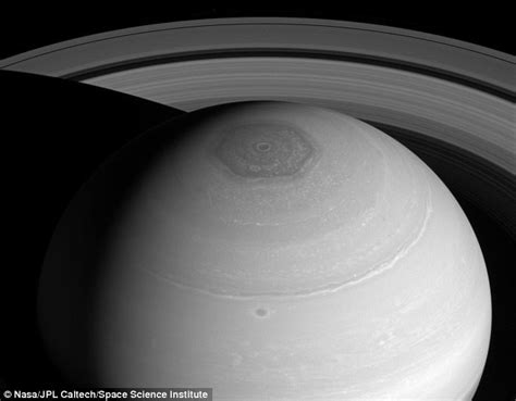 hexagon shape on saturn jet circling saturn s pole is jostled into