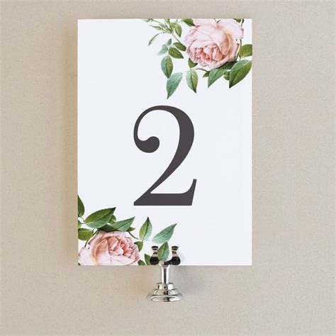 table number template word table numbers template diy printable instant by