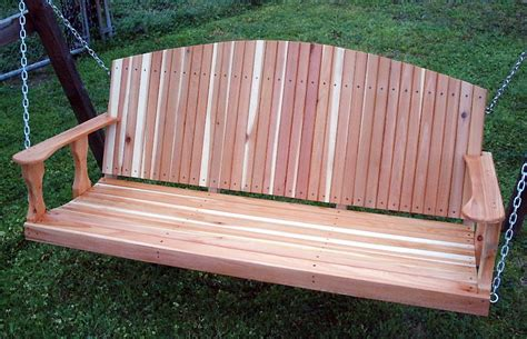 red cedar porch swing cedar creek woodshop porch swing patio swing picnic