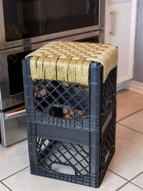 woven milk crate stool milk crate