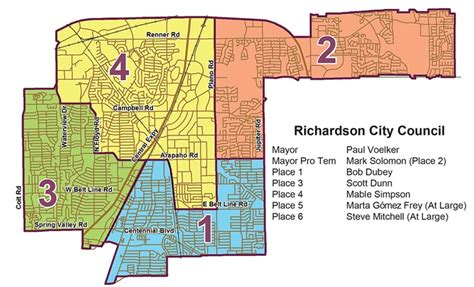 map of richardson texas city of richardson tx who are our city council members