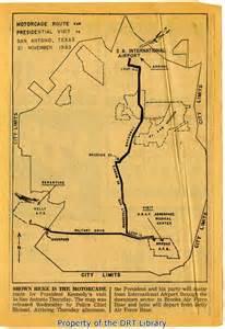 kennedy map november 21 1963 president kennedy in san antonio