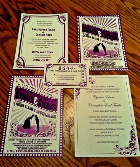 17 best images about movie wedding invitations on
