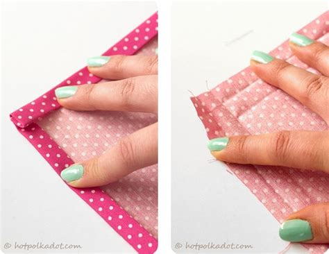 diy napkin tutorial and and easy way to do a mitered