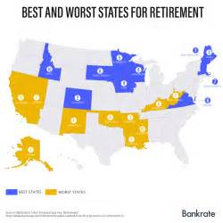 Cheapest Cost Of Living States by Where Are The Best And Worst States To Retire Bankrate Com