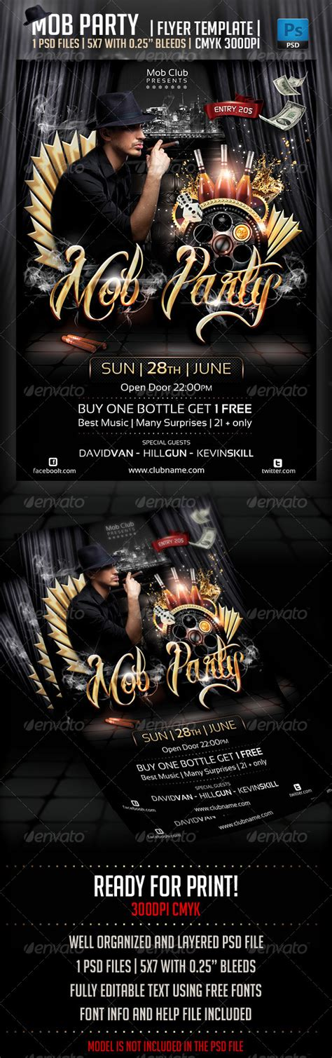 Print Template Graphicriver Mob Party Flyer Template 4353783 187 Dondrup Com Graphicriver Iii Flyer Template