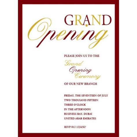 Invitation Letter Format For Shop Opening Greeting Cards Accessories Invitations Office