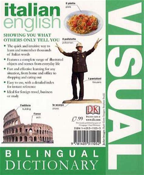 bilingual visual dictionary books italian bilingual visual dictionary waterstones