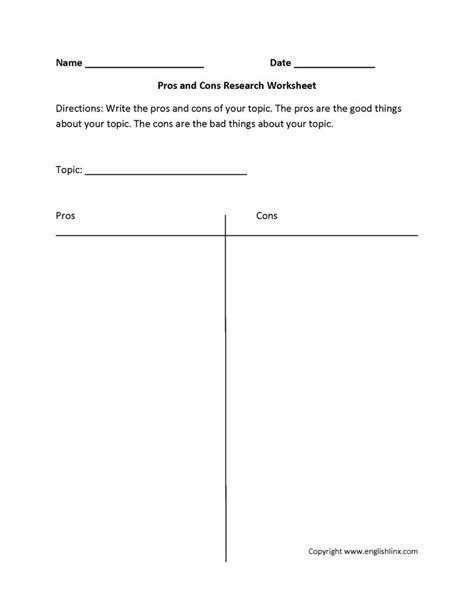 pros and cons worksheet template 17 best images about therapy worksheets on