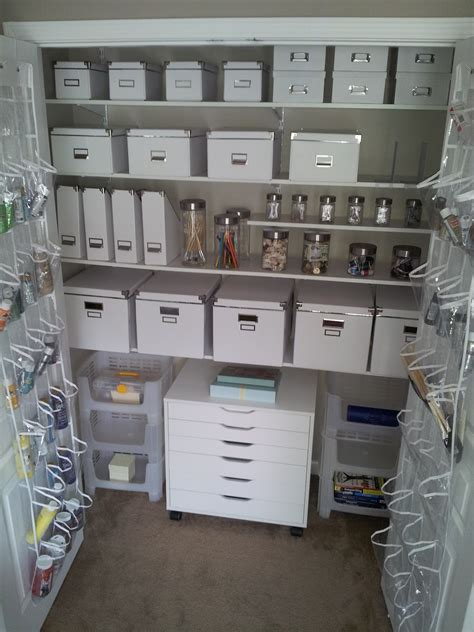 Craft Closet Organization Ideas by Duo Ventures Creativity Closet Makeover