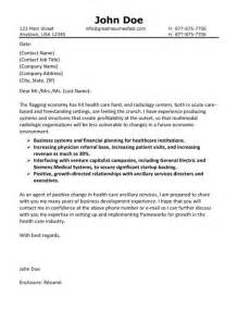 health care cover letter exle health