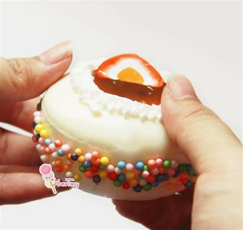Squishy Fruit Roll Cake fruit cake tart squishy with toppings 183 uber tiny 183