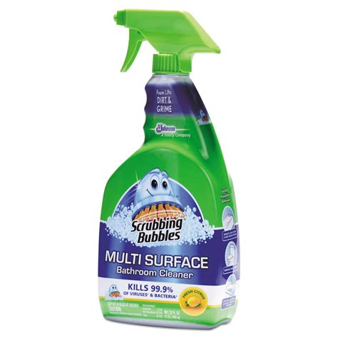 scrubbing bubbles bathroom cleaner msds multi surface bathroom cleaner by scrubbing bubbles