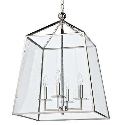 Glass Lantern Pendant Light Tesla Industrial Loft Modern Trapezoid Silver Metal Glass