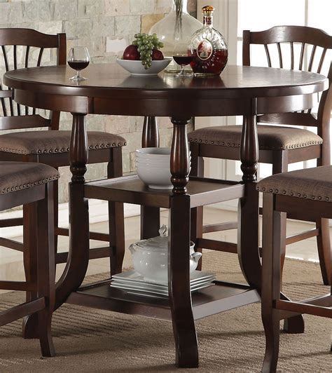 espresso counter height dining table bixby espresso counter height dining table from