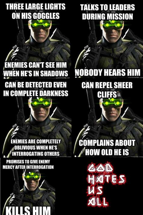 Splinter Cell Meme - sam fisher