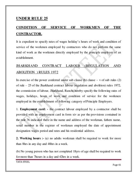 Mba Project On Contract Labour Management by Tata Steel Project On Quot Contract Labour Management Quot