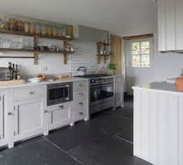 Paint Kitchen Backsplash make a statement with large floor tiles